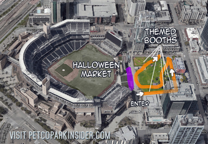 Petco Park Halloween Trail Map 2020
