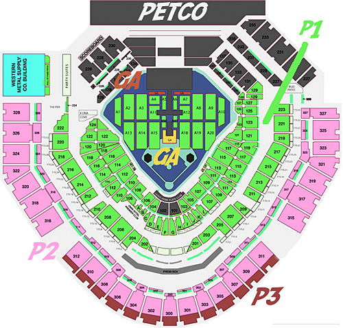 Petco Park Seat Map Taylor Swift at Petco Park: Concert Setlist | Petco Park Insider  Petco Park Seat Map